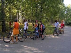 Велокоманда у деревни Кульсеитово